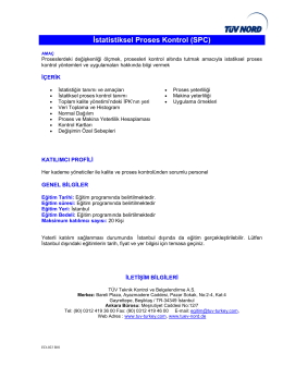 İstatistiksel Proses Kontrol (SPC)