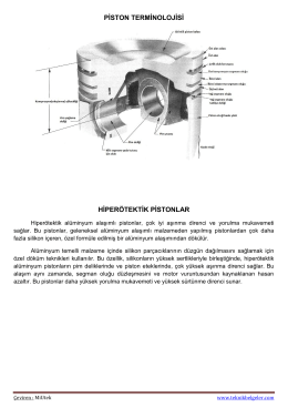 piston terminolojisi hiperötektik pistonlar