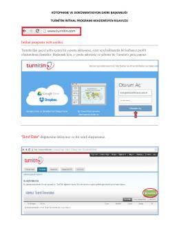 """İntihal programı web sayfası """"Sınıf Ekle"""" düğmesine tıklayınız ve bir"""