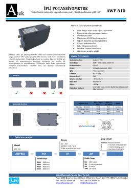 AWP 810 - ATEK Elektronik Sensör Teknolojileri