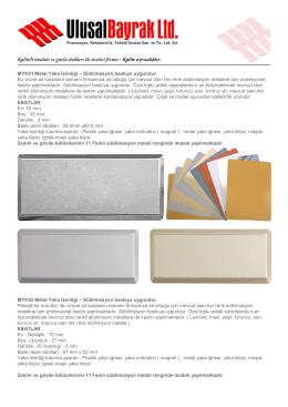 MYK01 Metal Yaka İsimliği – Süblimasyon baskıya