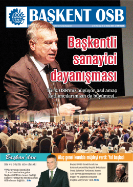 Başkan`dan - Başkent Organize Sanayi Bölgesi