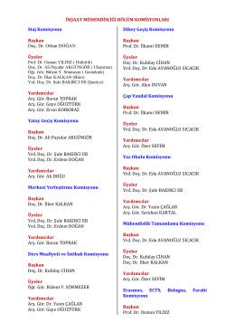 Staj Komisyonu - İnşaat Mühendisliği Bölümü