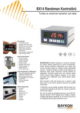 BX14 Randıman Kontrolörü