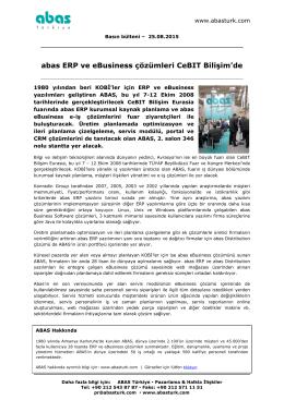 ABAS Türkiye - CeBIT Bilişim Eurasia
