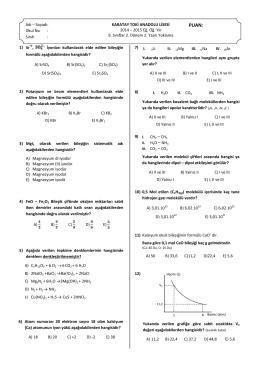 9) I. CH4 – CH4