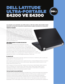 dell™ lATITude ™ ulTRA-poRTABle e4200 ve e4300