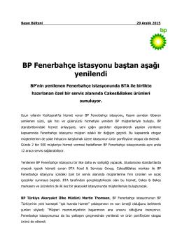 Yenilenen BP Fenerbahçe istasyonumuz hizmete açıldı! (pdf 242.2