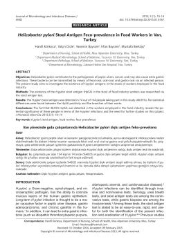 Helicobacter pylori Stool Antigen Feco