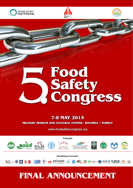 scıentıfıc program - 5. Food Safety Congress