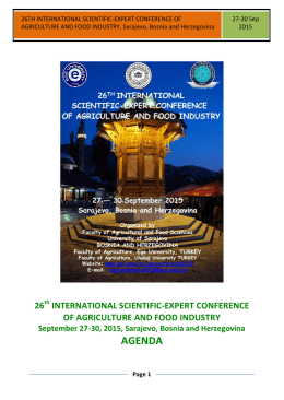26th international scientific-expert conference of agriculture and
