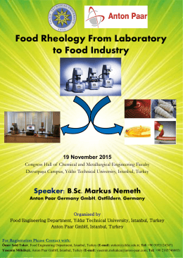Food Rheology From Laboratory to Food Industry