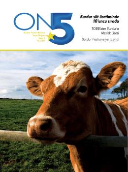 Burdur süt üretiminde 10`uncu sırada