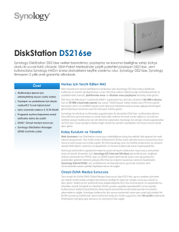 Synology DS216se Broşür