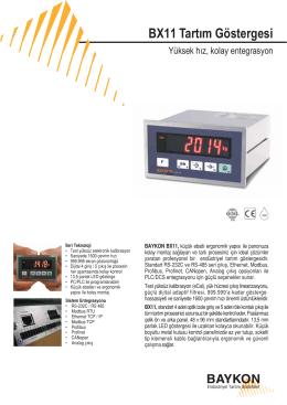BX11 Tartım Göstergesi - BAYKON Endüstriyel Tartım Sistemleri
