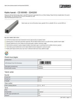 Kablo kanalı - CD 80X80