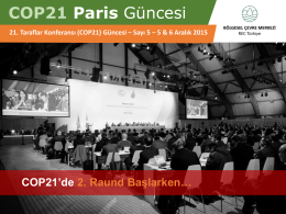 COP21 Paris Güncesi
