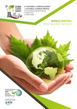 II. İstanbul Karbon Zirvesi - III. İstanbul Carbon Summit