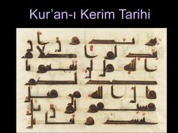 """Kur""""an-ı Kerim Tarihi"""