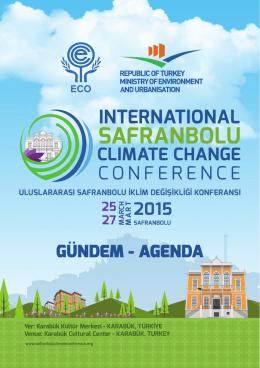 GÜNDEM - AGENDA - Safranbolu Climate Conference