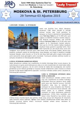 Ayrıntılı tur programını pdf formatında görüntülemek için lütfen