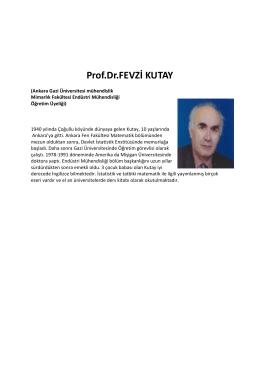 Prof.Dr.FEVZİ KUTAY