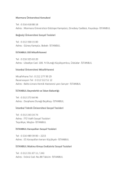 istanbul misafirhaneler listesi