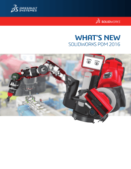 What`s New in SOLIDWORKS PDM 2016