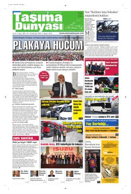 Taşıma Dünyası Gazetesi-190 PDF 8 Haziran 2015 tarihli sayısını