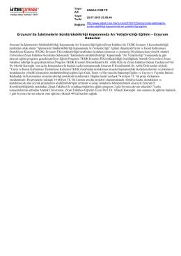 PDF FORMAT - Tarım ve Kırsal Kalkınmayı Destekleme Kurumu