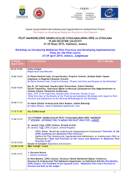 Mediation Pilots 27_29 April 2015