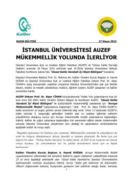 istanbul üniversitesi auzef mükemmellik yolunda ilerliyor