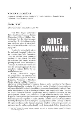 Güner, Galip (2015), Codex Cumanicus, İstanbul