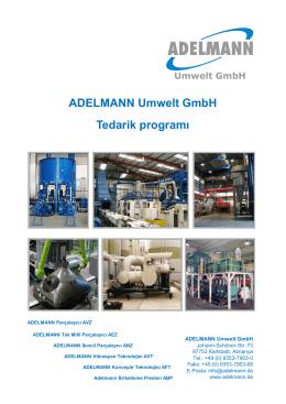ADELMANN Umwelt GmbH Tedarik programı