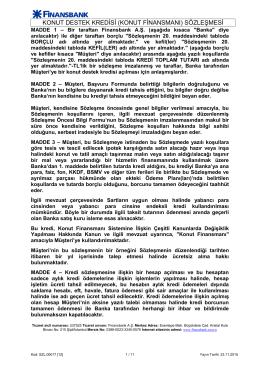 konut destek kredisi (konut finansmanı) sözleşmesi