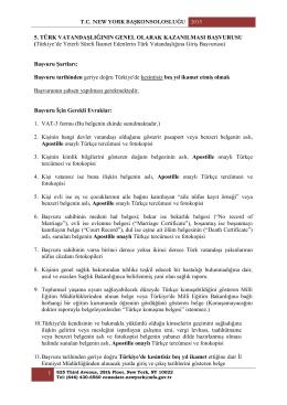 5. Türk Vatandaşlığının Genel Olarak