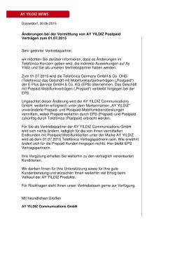 3738_Änderungen bei der Vermittlung von AY YILDIZ Postpaid