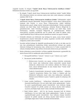 Rusya Hedefli Görüntülü Reklam Ürünleri, PDF 640 Kb