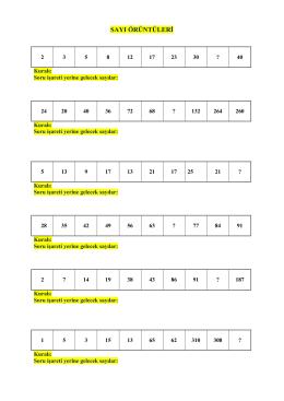sayı örüntüleri