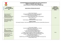 Çevre Koruma Hizmet Standartları
