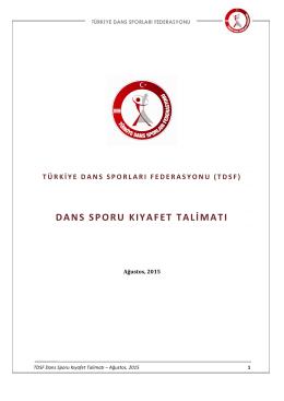 TDSF Dans Sporu KIYAFET Talimatı 2015-2016