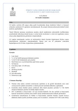 lif rapor - Türkiye Yazma Eserler Kurumu Başkanlığı