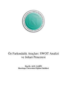 Öz Farkındalık Araçları: SWOT Analizi ve Johari Penceresi