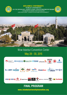 istanbul university - World Conference on Technology, Innovation