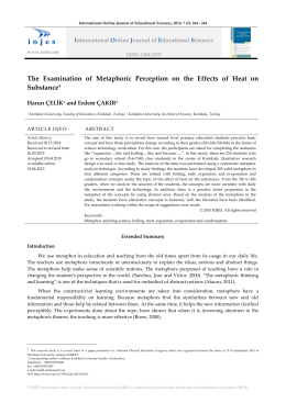 The Examination of Metaphoric Perception on the Effects of Heat on