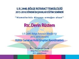 Kultur Sanat - UR 2440.Bölge Rotaract Temsilciliği