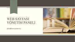 web sayfası yönetim paneli