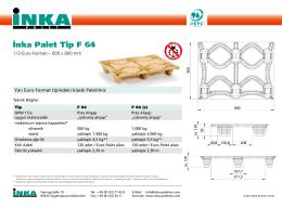 İnka Palet Tip F 64
