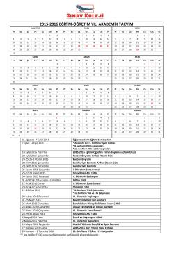 2015 - 2016 İlköğretim Çalışma Takvimi için tıklayınız.