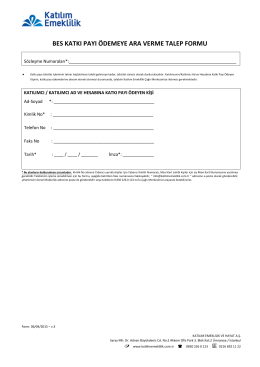 bes katkı payı ödemeye ara verme talep formu